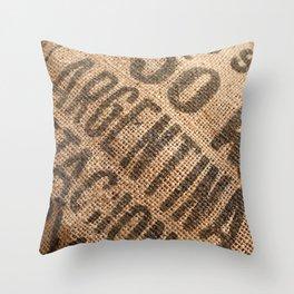 Burlap sack Throw Pillow