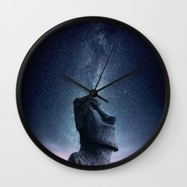 Moai statue Wall Clock
