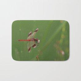 Red Dragonfly Bath Mat
