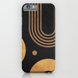 Transitions - Black 03 - Minimal Geometric Abstract iPhone Case