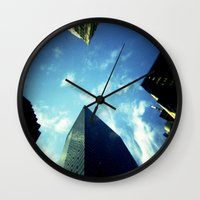 building Wall Clocks featuring Building by Jacquie Fonseca
