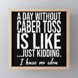 Caber Toss funny sports gift Framed Mini Art Print