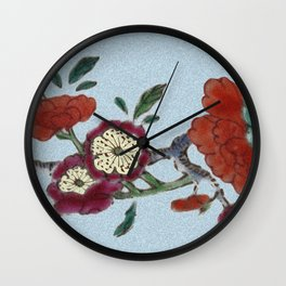 Flowering tree branch Wall Clock