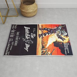 The Invisible Boy, 1957 (Vintage Movie Poster) Rug