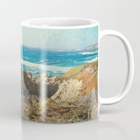 big sur Mugs featuring Big Sur - Bonafide by Jenndalyn