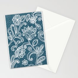 Lace on Paper Stationery Cards