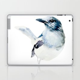 Watercolor Magpie Painting Laptop & iPad Skin