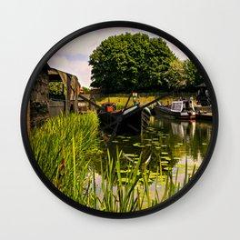 Canal dock. Wall Clock