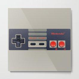 Nintendo Controller Metal Print