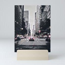 New York black red Mini Art Print