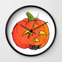Pumpkin Groom Wall Clock