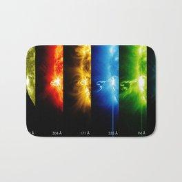 Solar Flare Rainbow Bath Mat