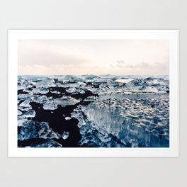 Ice Field on Diamond Beach, Iceland Art Print