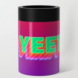 YEET Meme Colorful Typography Can Cooler