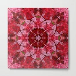Cranberrybush Viburnum mandala Metal Print