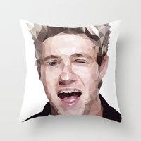 niall horan Throw Pillows featuring Niall Horan - One Direction by jrrrdan