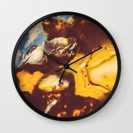 Amber Honey Agate Wall Clock