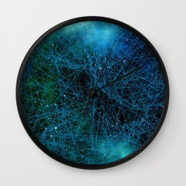 System Network Connection Wall Clock