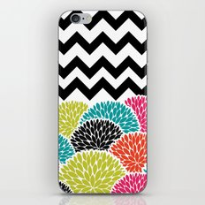 Tropical Flowers Chevron iPhone Skin