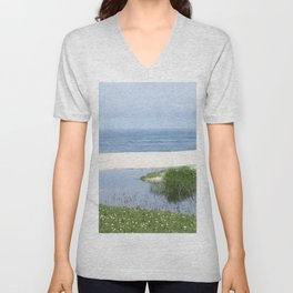 arrival of the brook into the sea Unisex V-Neck