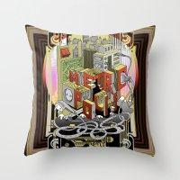 metropolis Throw Pillows featuring Metropolis  by KRNago