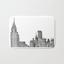 NYC Skyline Bath Mat