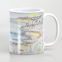 water colour Mugs featuring water colour kaua'i by David Stone