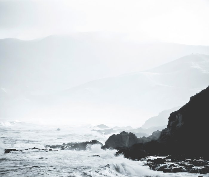Sea Waves Seascape, Ocean Waves Photography, Sea Coast, Sea Beach Tapestry, Pillow etc Metal Travel Mug