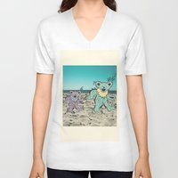 grateful dead V-neck T-shirts featuring Grateful Dead Beach Cruise by Charlotte hills