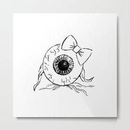 Eyeball Lady Metal Print