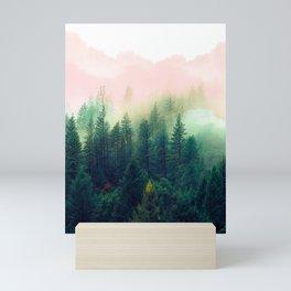Watercolor mountain landscape Mini Art Print