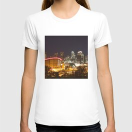 Downtown Calgary at night from Scotsman's Hill T-shirt