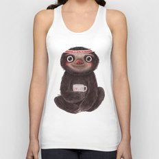 Sloth I♥lazy Unisex Tank Top