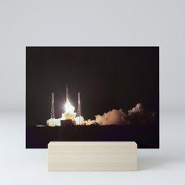 Night Rocket Launch Mini Art Print