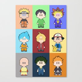 Anime Collage Canvas Print