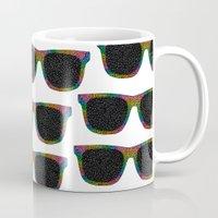 sunglasses Mugs featuring Sunglasses by Luna Portnoi