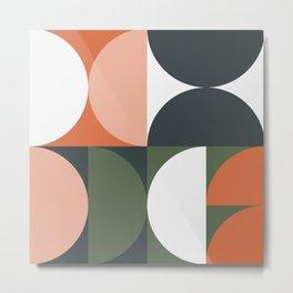 Mid Century Geometric 15 Metal Print