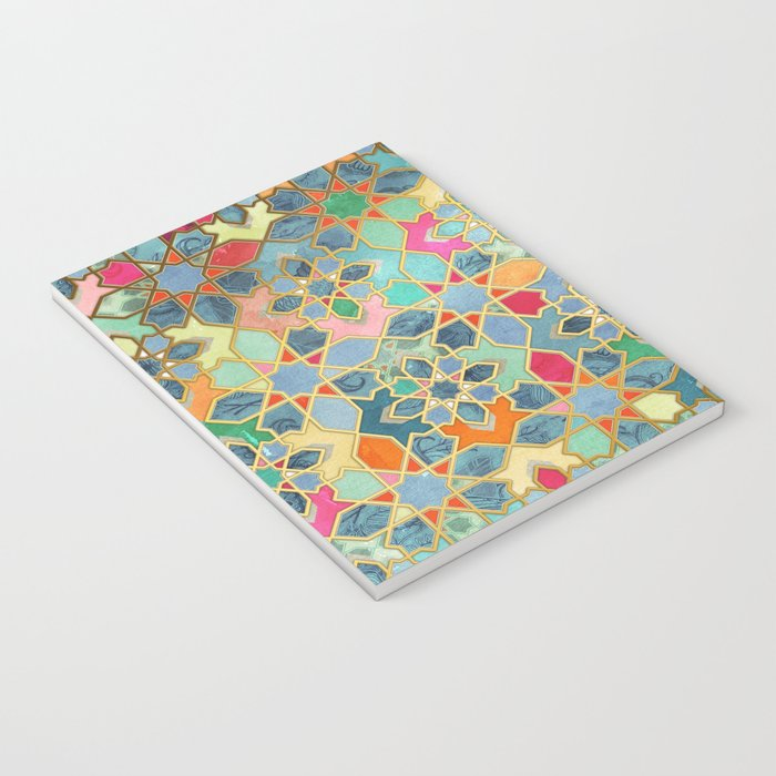 Gilt & Glory - Colorful Moroccan Mosaic Notebook