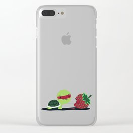 Strawberry Turtle Clear iPhone Case