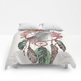 Wolf Dream Catcher Comforters