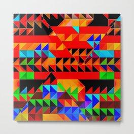 Aztec Pyramid Inspired Design Metal Print