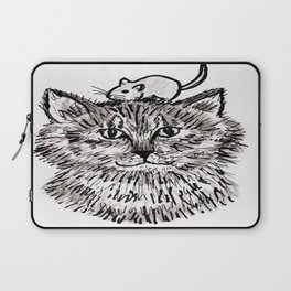 Grey Kitty and a Mouse Laptop Sleeve