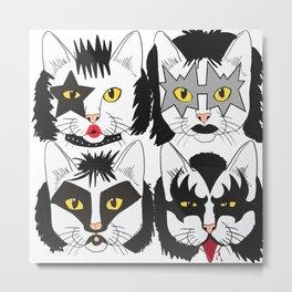 Cat Kiss Metal Print