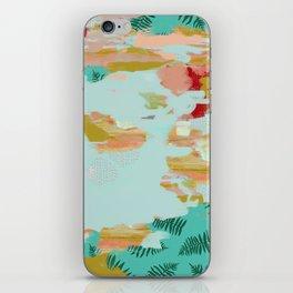 Seafoam Fern Collage iPhone Skin