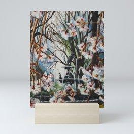 Fountain Square Park in Earth Tones Mini Art Print