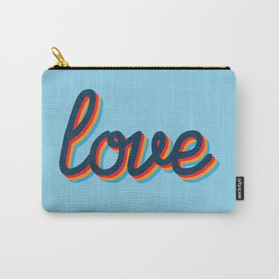 Love - blue version Carry-All Pouch