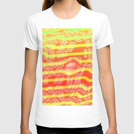 Lights on stripes T-shirt