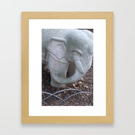 Cement Tusker Framed Art Print