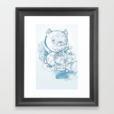 Blue Cat Framed Art Print