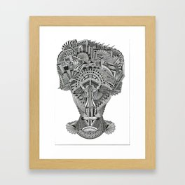 Self portrait with demons (0021)  Framed Art Print